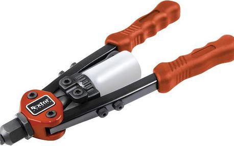 Extol Premium (8813750) kleště nýtovací pákové krátké, 280mm, pro trhací nýty 2,4-3,2-4,0-4,8mm z materiálů Al, měď, ocel, nerezová ocel, CrMoV