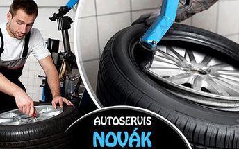 Profesionální přezutí pneu nebo výměna celých kol všech velikostí bez doplatků, včetně vyvážení a závaží!
