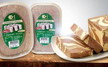 Halva – vyhlášená orientální pochoutka ze zdravých sezamových semínek! 150 nebo 250 g, výběr ze 3 příchutí!