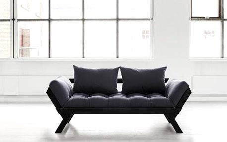 Sofa Bebop, černá/šedá - doprava zdarma!