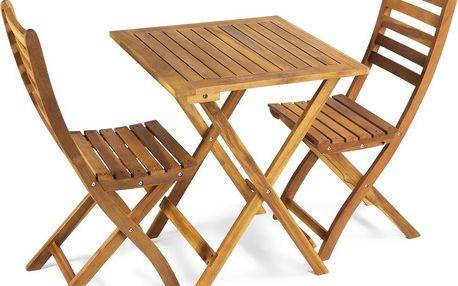 Skládací zahradní dřevěný nábytek Fieldmann FDZN 4018 Bella z tvrdého dřeva