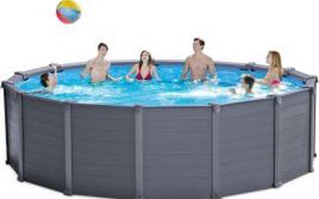 Bazén Intex Graphite Panel Set 4,78x1,24 m - kompletset s pískovou filtrací
