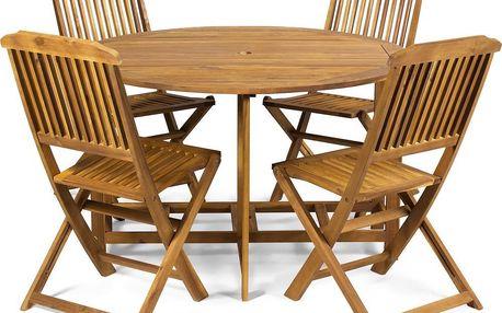 Zahradní dřevěný nábytek Fieldmann FDZN 4016, který vydrží každé počasí