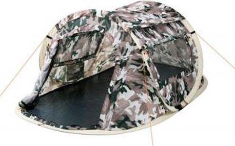 Samorozkládací stan pop up 245 x 145 x 100 cm pro 2 osoby (camouflage)