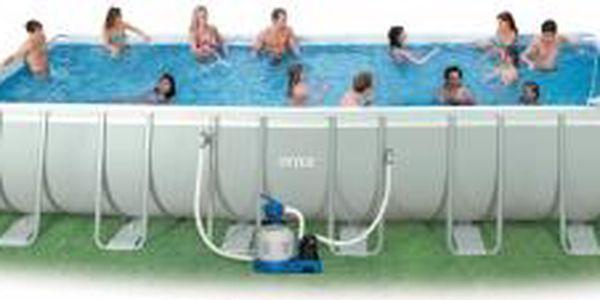 Bazén Tahiti 3,66 x 7,32 x 1,32m - ULTRAKOMPLETSET s pískovou filtrací Intex
