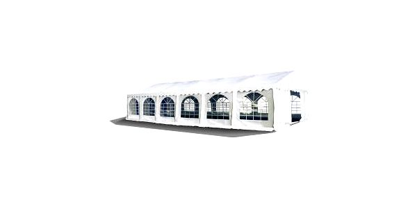 Party stan Premium Ohnivzdorný 6x12m (bílý)
