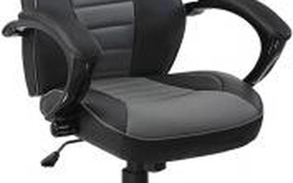 Kancelářská židle Hawaj racing Deluxe šedo-černá