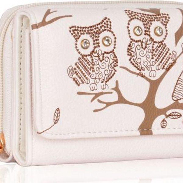Dámská peněženka Owl 1045 bílá