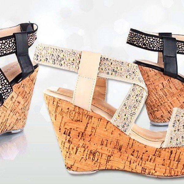 Třpytivé letní sandálky