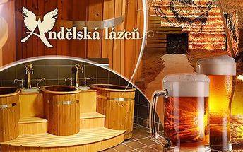 Pivní lázně Anděl pro dva s neomezenou konzumací piva + relax, solná jeskyně, infrasauna či masáž na 50 až 120 min.!
