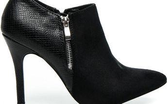 BESTELLE Kotníkové boty na podpatku 100-458ES-1B 40