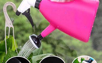 Konvice na zalévání s kropáčkem a rozprašovačem