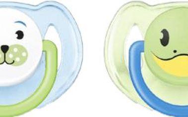 AVENT Dudlík zvířátko tuleň + žabka 2ks (silikon) - 6-18 měsíců