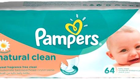 PAMPERS Natural Clean (64ks) - čistící ubrousky