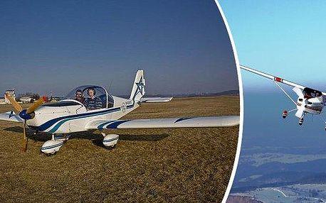 Pilotem letadla - více než vyhlídkový let!!! Vyberte si, zda poletíte ULL Skylane nebo ULL Eurostar. Vyberte si ze čtyř letadel a vyzkoušejte let 20 min. nebo 30 min. s předchozí instruktáží. V bezkonkurenční ceně je instruktáž a pak jste pilotem VY!