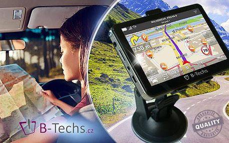 Super rychlá GPS navigace B-Techs! Vestavěná paměť, až 7palcový displej a doživotní aktualizace map
