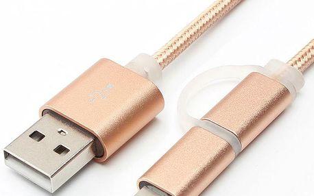 Barevný USB kabel 2v1 - 1 m