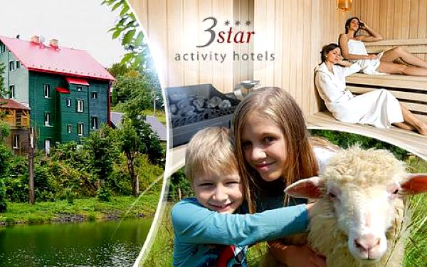 Krušné hory, Klínovec na 3 dny pro 2 osoby v Hotelu Star*** s polopenzí + vířivka, sauna, trampolína a farma!
