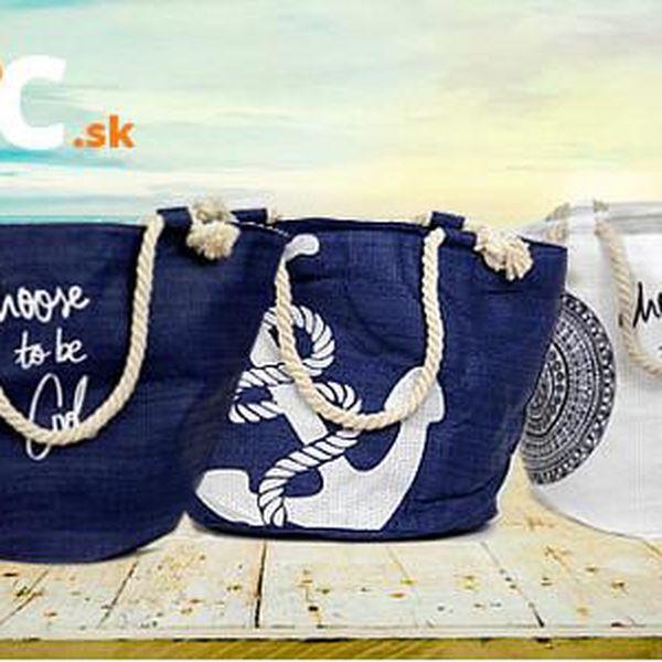 Stylová plážová taška z pytloviny s doručením zdarma
