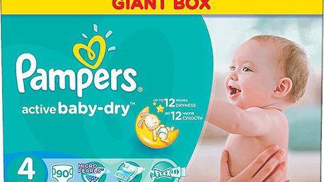 PAMPERS Active Baby 4 MAXI 90ks (7-14 kg) GIANT BOX PLUS - jednorázové pleny