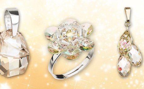 Přívěsky a prsteny Swarovski Elements