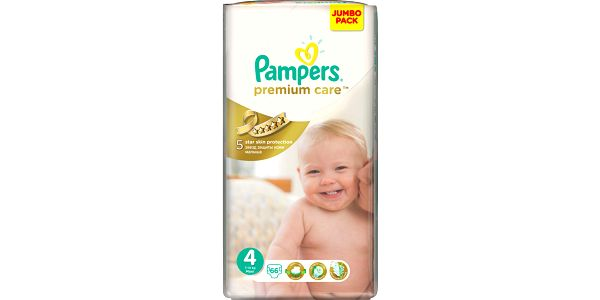 Pampers Premium Care 4 Maxi 7-14kg, 66 ks