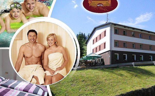 Týdenní relax pro jednoho s polopenzí, 20m bazénem a saunou v klidném prostředí Orlických hor.