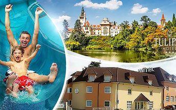 Praha - Průhonice na 3 dny až pro 4 osoby vč. snídaní a 50% slevy do restaurace v hotelu blízko aquaparku! 10/2016.