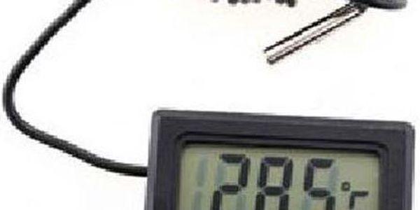 Mini LCD digitální teploměr do auta, bytu nebo pro měření teploty vody