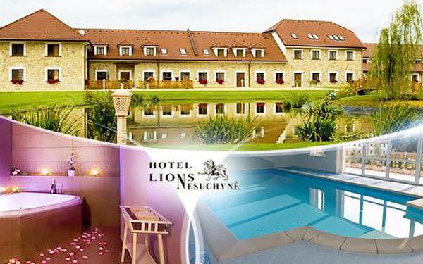 Střední Čechy - VIP pobyt na 3 dny pro dva s polopenzí a neomezeným wellness v Hotelu Lions Nesuchyně!