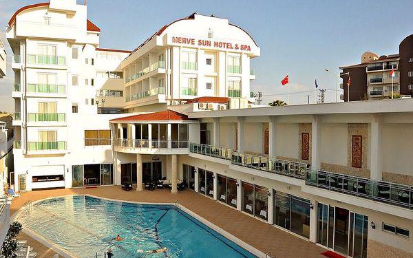 Merve Sun Hotel, Turecko, Turecká riviéra, 8 dní, Letecky, All inclusive, Alespoň 4 ★★★★, sleva 36 %