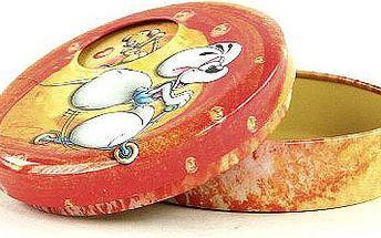 Diddl & Friends Šperkovnice otočná Diddl Šperknovnice otočná s obrázky II. Diddl koloběžka oranžová