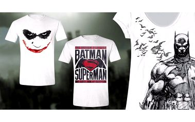 Parádní trička Batman v. Superman