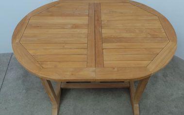 Zahradní dřevěný stůl Zahradní ráj, ovál, 120/180 x 90 cm + 200 Kč za registraci