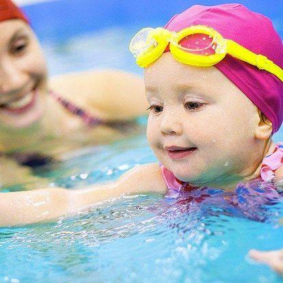 12 lekcí jarního plavání pro děti