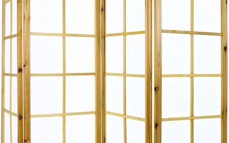 STILISTA 1267 Paraván 180 x 156 cm - světle hnědý