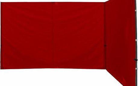 Garthen 27312 Sada 2 bočních stěn k PROFI nůžkovému stanu - červené