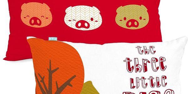 Mr. FOX Povlak na polštář Little Pigs, 50x30 cm