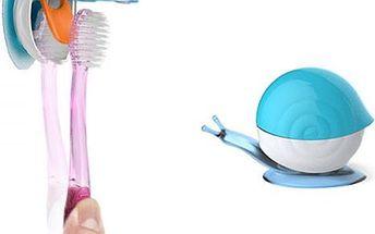 Šnek - držák na zubní kartáček - poštovné zdarma
