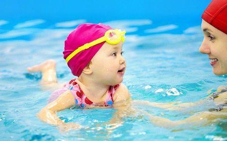 40minutová lekce dětského plavání v Držovicích