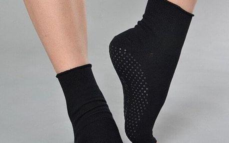 Bavlněné ponožky na jógu a pilates