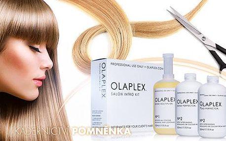 Regenerační kúra OLAPLEX pro vlasy krátké, polodlouhé i dlouhé, včetně střihu, mytí a foukané na Praze 10.