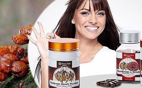 Doplněk stravy KINGRAY® - Cordyceps Sines Mycelium v čisté podobě či v kombinaci s houbou Reishi pro podporu zdraví!