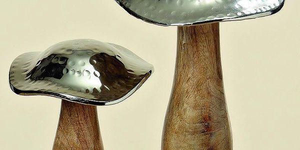 Dekorace Mushroom, 2 ks