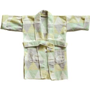 David Fussenegger JUWEL kimono 5-6 let triangl šedo-zelená