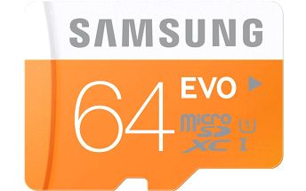 Samsung Micro SDXC EVO 64GB Class 10 UHS-I + adaptér - MB-MP64DA/EU