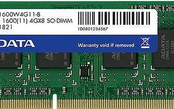 ADATA Premier 4GB DDR3 1600 CL 11 - ADDS1600W4G11-S