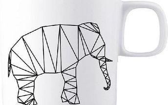 Porcelánový hrnek Origami Elephant, 200 ml