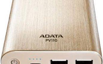 ADATA PV110, 10400mAh, zlatá - APV110-10400M-5V-CGD
