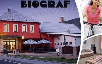 Pobyt s polopenzí v příjemném penzionu Biograf pro dvě osoby na 3 nebo 4 dny v Jeseníkách.